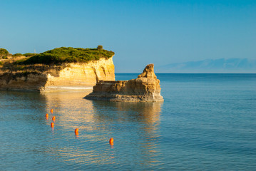 Canal d'amour Sidari, Corfu Island in Greece. Channel of love