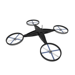 Remote Controlled Quadcopter Drone isolated on white