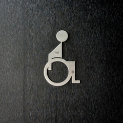 Metal Disabled Sign