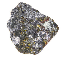 rock from silver mine in photo studio