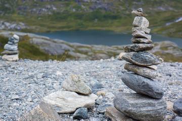 Zen, Steinpyramide auf Trollstigen