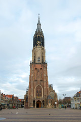 The New Church on the Markt (central square) of Delft, Holland
