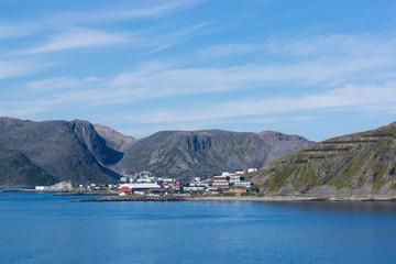 Blick auf Nordküste in Norwegen