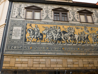 Procession of Princes is a giant mural on a wall in Dresden