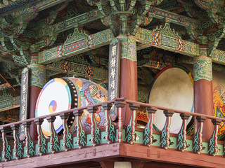 Drums At Buddhist Temple