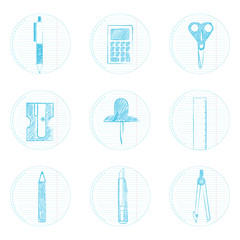 Icons of stationery