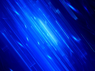 Blue glowing lines in space