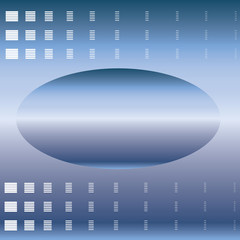 abstract  ellipse white space for text on blue background