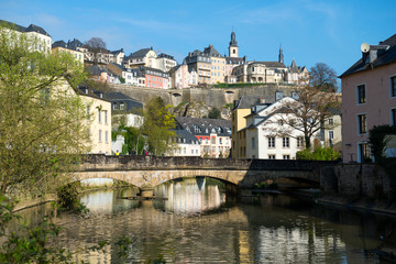 Downtown Grund of Luxembourg City