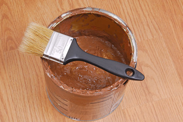 paint can and paint tools