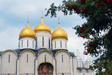 Dormition church. Moscow Kremlin. UNESCO World Heritage Site.