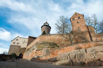 Nuremberg Imperial Castle and Sinwell Tower in Nuremberg