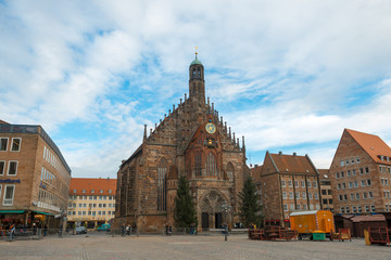 View of the Frauenkirche (Our Lady's Church) in Nuremberg