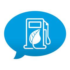 Etiqueta tipo app azul comentario simbolo biodiesel