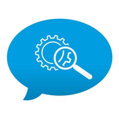 Etiqueta tipo app azul comentario simbolo busqueda de producto