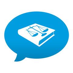 Etiqueta tipo app azul comentario simbolo codigo penal