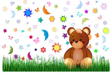 Children toy background