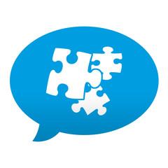Etiqueta tipo app azul comentario simbolo plugin