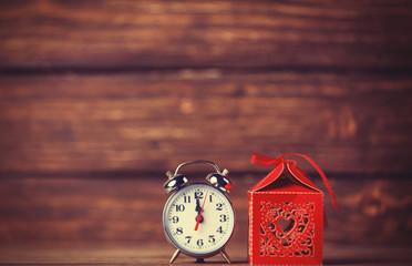 Retro alarm clock and holidays gift