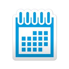 Pegatina simbolo calendario