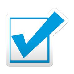 Pegatina simbolo validacion