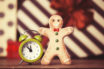 Cookie man and alarm clock