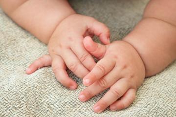 Newborn baby's hands