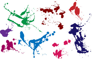 colored blots and splashes set2