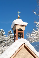 chapel in winter time