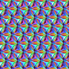 seamless background with geometric patterns of triangular gems