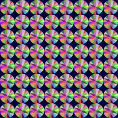 seamless background with geometric pattern of round gems