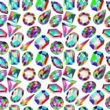 background seamless placer precious stones on white - 69278614