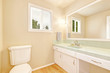 Bright bathroom in light tones