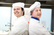 Couple of chefs in the kitchen