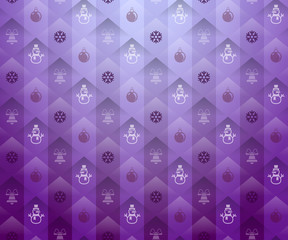 Christmas purple background. New Year pattern with snowflake