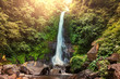 canvas print picture - Waterfall in Indonesia
