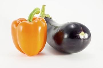 Перец и баклажан