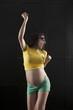 pregnant woman brazilian fan