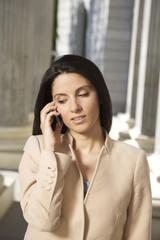 businesswoman talking mobile