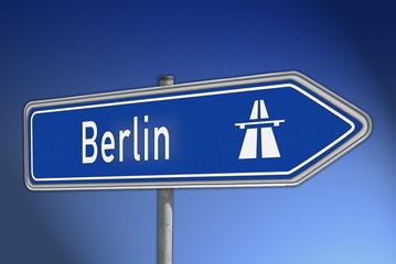 Autobahnwegweiser Berlin