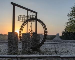 Sunset on the waterwheel