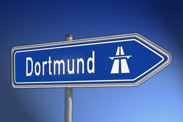 Autobahnwegweiser Dortmund