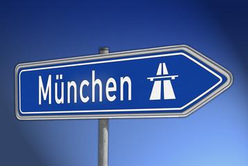 Autobahnwegweiser München