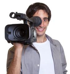 Kameramann bei der Filmaufnahme