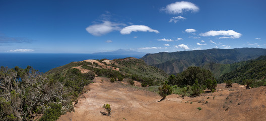 La Gomera - Wanderweg oberhalb Vallehermoso