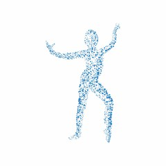 Abstract woman dancing
