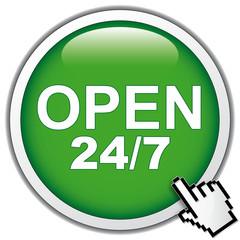 OPEN 24 7 ICON