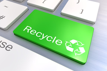 Recycle Eco keyboard button