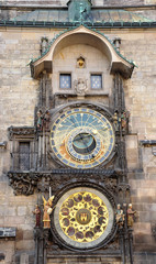 historically astronomical clock, Prague, Czech Republic, Europe