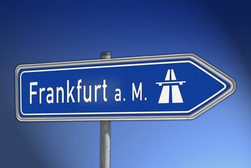 Autobahnwegweiser Frankfurt a. M.